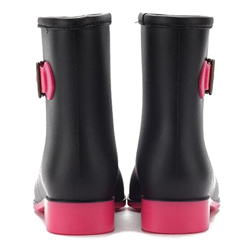 hibote Rain Rubber Water Warm Women Galoshes Antiskid Shoes Boots Brown Lady Female rxrn7