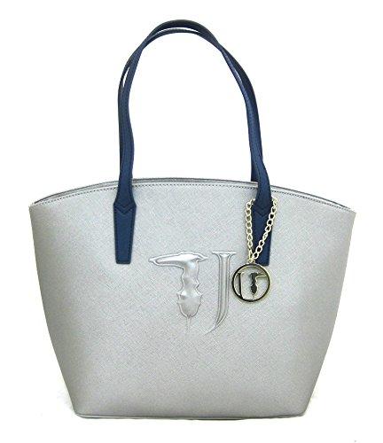 Argento Bag Ischia blu Shopping Jeans Trussardi xaRPq0ZTWw