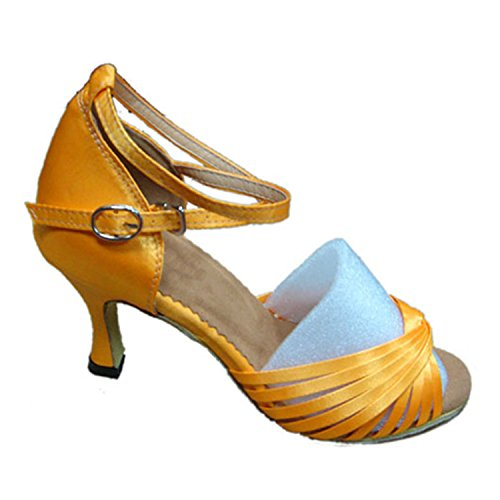 Zapatos Latinos Adultos Amarillo 7.5cm