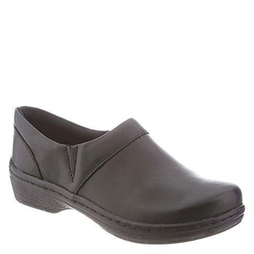 Closed Back Leather Clogs (Klogs Men's Mace Comfort Slip On Closed Back Clog - Black smooth 10 D(M) US)