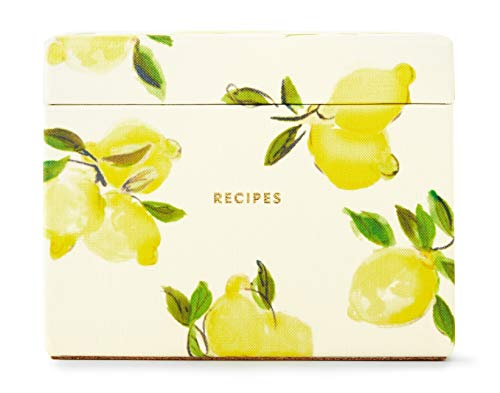 - Kate Spade New York Recipe Box with 40 Double Sided Recipe Cards, Lemon