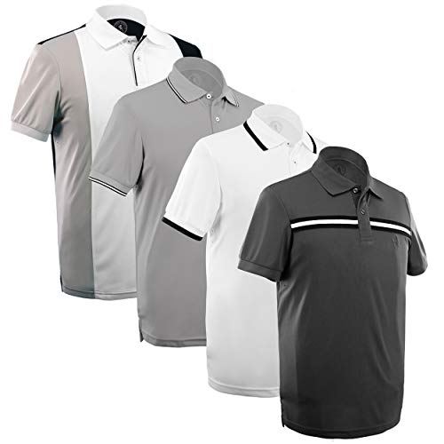 Albert Morris Polo Shirt Men 4 Pack - Ivy League Pack, Short Sleeve (XX-Large)