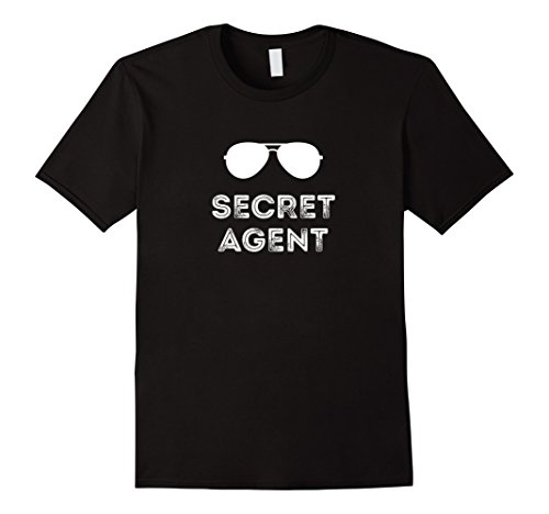 Spy Ideas Party Costume (Mens Secret Agent Halloween Funny Costume Tee shirts Large)