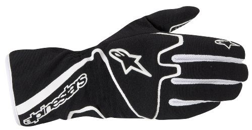 Tech 1 Race Glove - Alpinestars (3552012-12-M Black/White Medium Tech 1-K Race Karting Gloves