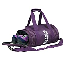 WENHAO Travel Small Duffel Sports Gym Luggage Bag For Women (Small, Purple (with shoes compartment))