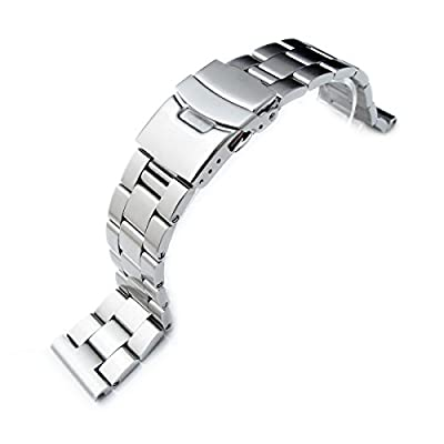 22mm 316L Solid Stainless Steel Oyster Straight End Watch Bracelet by Taikonaut