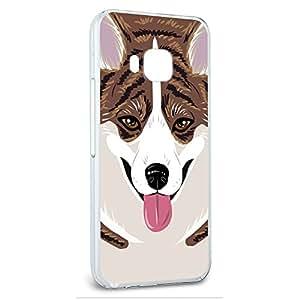 Snap On Protective Slim Hard Case for HTC One M9 Corgi Dog Designs - Brindle Dog Pet Cardigan Welsh Corgi
