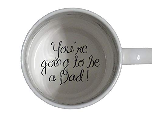You're Going to be a Dad Coffee Mug, Pregnancy Announcement, pregnancy reveal , Bottom, hidden message, secret message, Coffe cup ()
