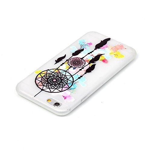 Voguecase® für Apple iPhone 5 5G 5S, Schutzhülle / Case / Cover / Hülle / TPU Gel Skin mit Nachtleuchtende Funktion (Graffiti/Campanula) + Gratis Universal Eingabestift