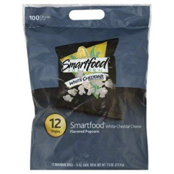 - Smartfood White Cheddar Cheese Flavored Popcorn, 5/8 Ounce (Pack of 12)