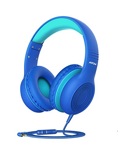 Mpow CH6 [New Version] Kids Headphones Over-Ear/On-Ear, HD Sound Sharing Function Headphones for Children Boys Girls, Volume Limited Safe Foldable Headset w/Mic for School/PC/Cellphone