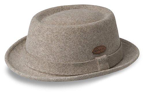 Kangol Men's Lite Felt Porkpie Hat, Tobacco, Large