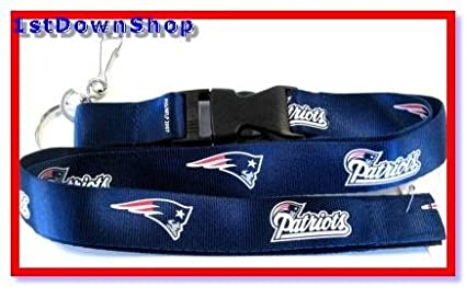 New England Pats Patriots Lanyard Ticket/ID Badge Holder Keychain