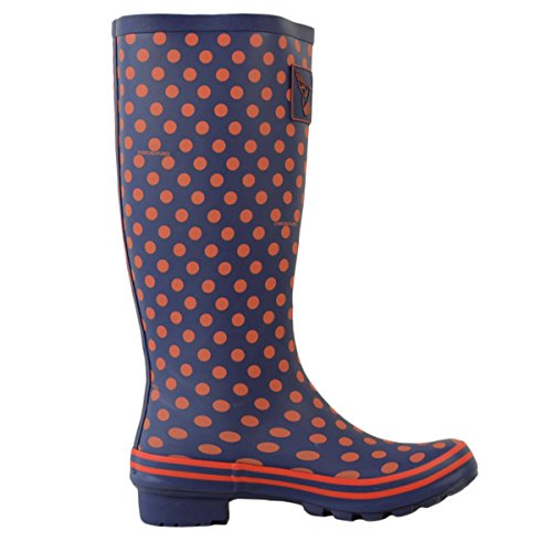 Wellies Multisun Evercreatures Ladies Dots Navy Orange vqg7TR
