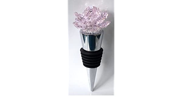 acbf5ee40 Amazon.com: Wine Stopper Pink Rose Made with Swarovski Crystal - Stainless  Steel Wine Stopper: Home Bars: Kitchen & Dining