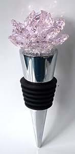 Crystal Rose Wine Stopper Handcraftded with Swarovski Crystal - Wedding Favor