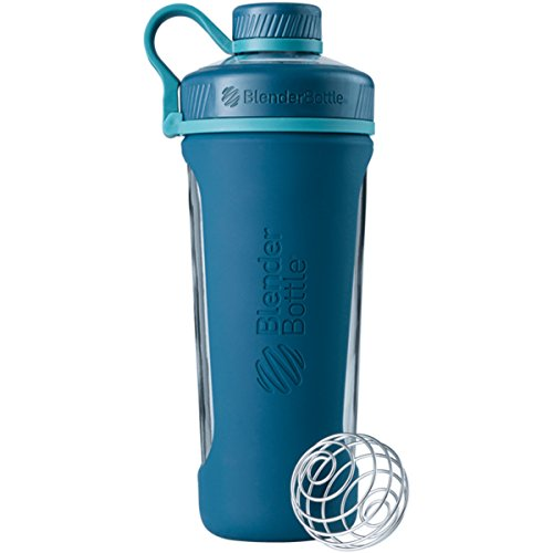 BlenderBottle Radian Glass Shaker Bottle, Deep Sea Green, 28-Ounce ()
