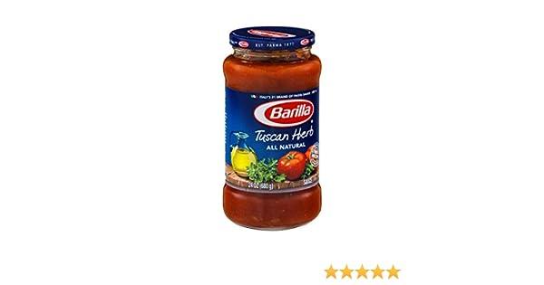 Amazon.com : Barilla Tuscan Herb All Natural Pasta Sauce 24 oz : Grocery & Gourmet Food