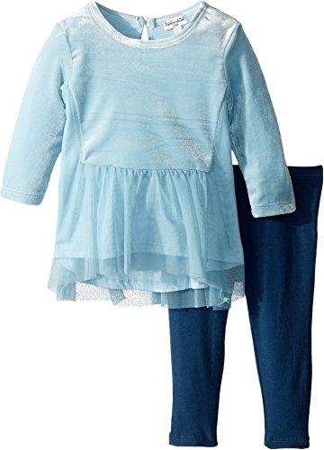 Splendid Littles Womens Velour/Tulle Leggings Set (Infant) Light Blue 3-6 Months One Size