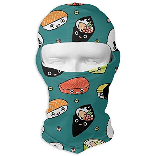 O-X_X-O Balaclava Windproof Ski Face Mask Winter Motorcycle Neck Warmer Balaclava Polyester for Women Men Youth Snowboard Cycling Hat Outdoors Helmet Liner Japan Sushi Kawaii Mask ()