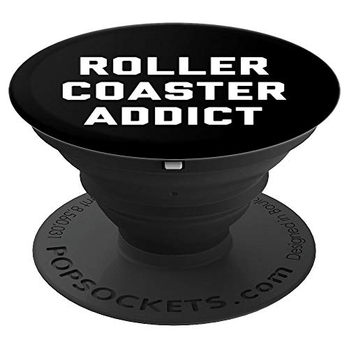 (Roller Coaster Addict Theme Parks Adventure Danger - PopSockets Grip and Stand for Phones and Tablets)