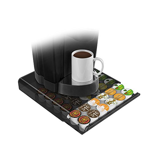 Mind Reader Coffee Pod Storage Drawer for K-Cups, Verismo, Dolce Gusto, Smoke/Clear by Ems Mind Reader Llc