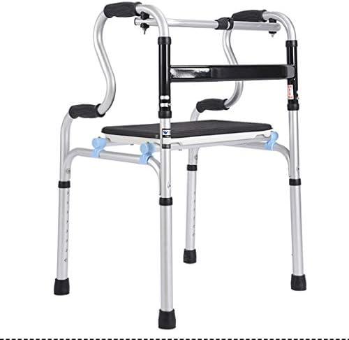 Meet World 3 in 1 Stand-Assist Folding Walker Mit Sitz - Adult Walker - Tragbare Medizinischer Walker Mit Einstellbarer Höhe