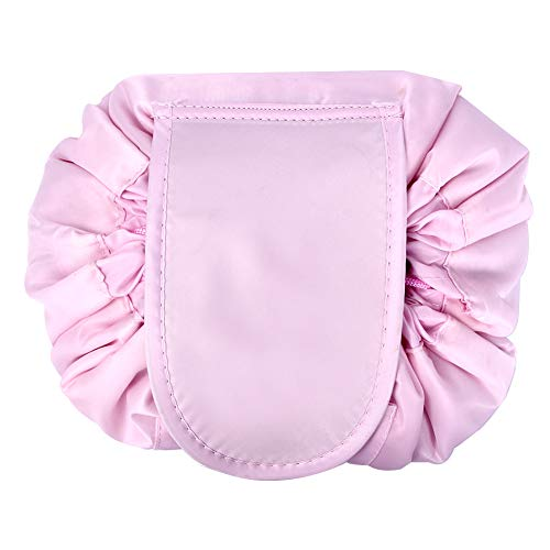 VOCUS Lazy Drawstring Cosmetic Bag Makeup Organizer Pouch Large Capacity Toiletry Travel Bag for Women Girls