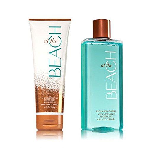 Bath & Body Works At The Beach Shower Gel & Ultra Shea Body Cream (Bundle of 2) by Bath & Body Works