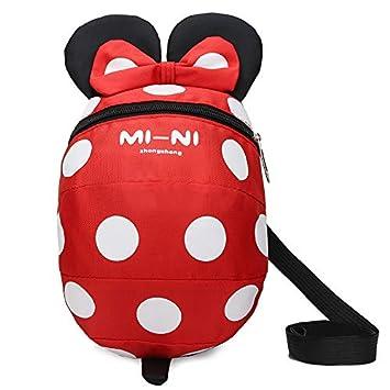 Mochila con arnés de seguridad para bebés y niños con correa de dibujos animados para el hombro, mochila para peatones con arnés de correa, cinturón ...