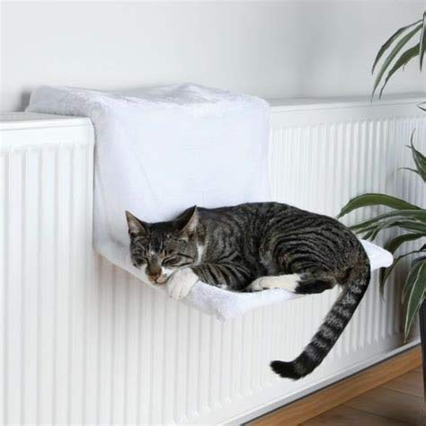 Jumbl Cozy Sheepskin Hanging Radiator Kitty Bed with Removable Cover