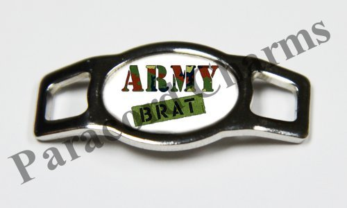 Army Brat Shoes - Military - Army Brat - Design #104 - Stainless Steel 550 Paracord Shoelace Charm - NEW