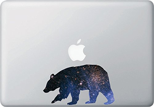 """Price comparison product image Cosmic Bear - Design 1 - Contour Cut and Printed Laptop / Macbook Vinyl Decal © YYDC. (6""""w x 3.5""""h)"""