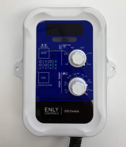 Ppm Co2 Controller (Enly Controls Day/Night C02 Controllers W/High Temp Shut-Off & Display)