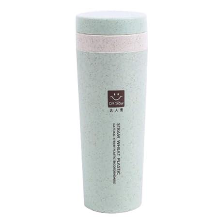 Botella de agua ecológica con diseño de pajita para deportes, taza ...