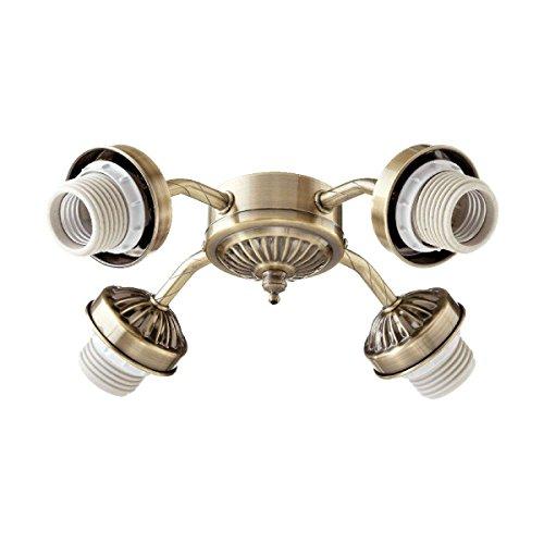 Quorum International Antique Brass Energy Saving Four Light Kit Mounting Hardware by Quorum