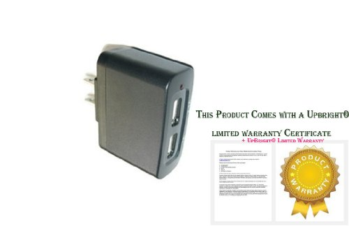 UpBright® Travel Wall 2 USB Ports AC/DC Adapter Charger