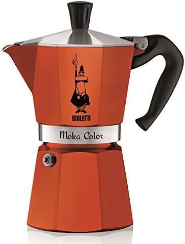 Bialetti 06906 6-Cup Espresso Coffee Maker, Orange