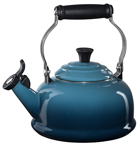 Le Creuset Enamel-on-Steel Whistling 1-4/5-Quart Teakettle, Marine