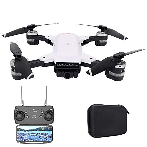 UPSTONE YH-19G RC Drohne - Faltbare GPS Drohne mit 1080P 120° FPV WiFi Kamera HD Live übertragung -Quick Shot RC Helikopter,Wide-Angle Camera Quadcopter Hover Anfänger und Experte,Tragetasche (A) (Faltbar)