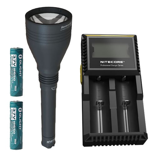 Armytek Barracuda v2 XP-L Hi Flashlight w/ D2 Charger & 2x Olight 2600mAh 18650 Batteries by Armytek