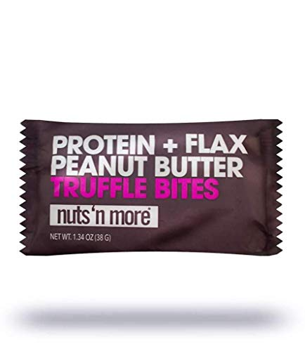 Nuts N More Peanut Butter Truffle Bites, All Natural High Protein Snack, Low Carb, Low Sugar, Gluten-Free, Fair Trade, 12-pack (2 Truffles/Pack)