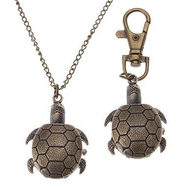 (R. - Unisex Turtles Style Alloy Analog Quartz Keychain Necklace Watch (Bronze) ( Style : Keychain Watch ))