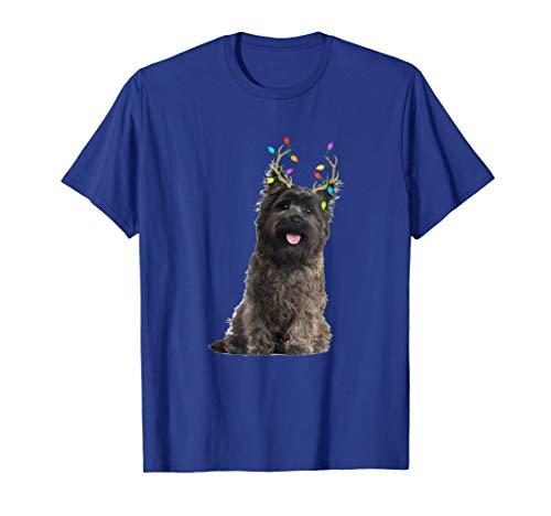Cairn Terrier Reindeer Christmas Dog T-Shirt