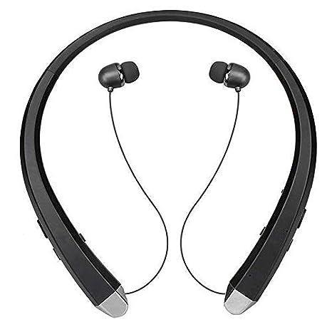 Auriculares inalámbricos Bluetooth Cuello Banda Auriculares Deporte Retráctil Auricular Auricular Oro Rosa: Amazon.es: Electrónica