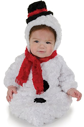 [Underwraps Baby's Snowman Bunting Belly, White/Red/Black, Infant] (Snowman Costume Hat)