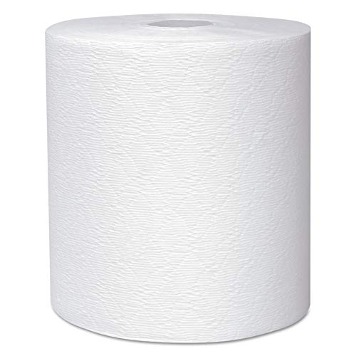 "Scott 50606 Essential Plus Hard Roll Towels 8"" x 600 ft, 1 3/4"" Core dia, White (Case of 6 Rolls) from Scott"