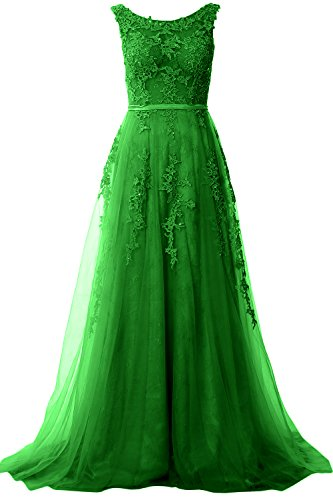 Lace Wedding Green Long Neck Vintage Prom MACloth Formal Gown Elegant Party Boat Dress 8qtwn7a