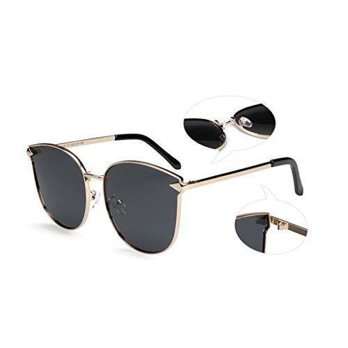 aire de libre anti Gray ultravioleta conducción cómodo moda metal gafas sol Pink femenino sol polarizada masculino de de Gafas de Espejo y de Color al luz viaje aBZqXX