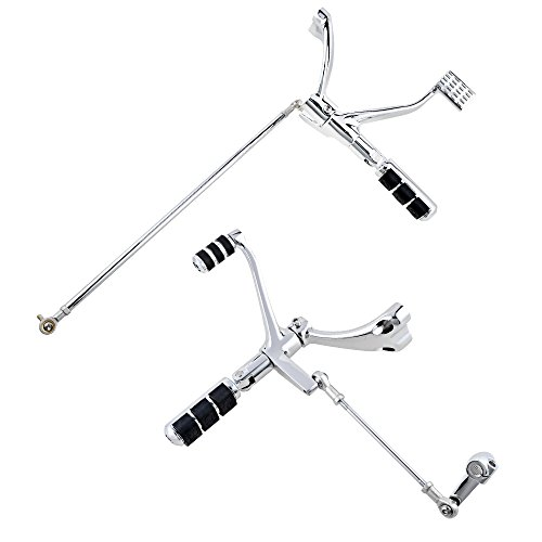 Chrome Forward Controls Peg Levers Linkage Kit Compatible with 2004-2013 Harley Sportster XL 1200 883 (Selected) Custom Chrome Forward Controls